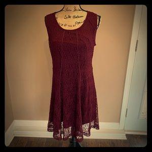 Alfani maroon sleeveless dress